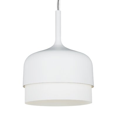 1-Light Drum Pendant Finish: White