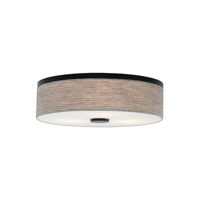 Hancock 3-Light Flush Mount Fixture Finish: Bronze, Shade Color: Pewter