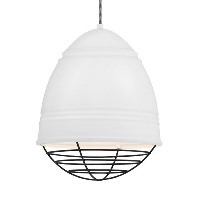 Else 1-Light Mini Pendant Finish: Black, Shade Color: Rubberized White/White Interior