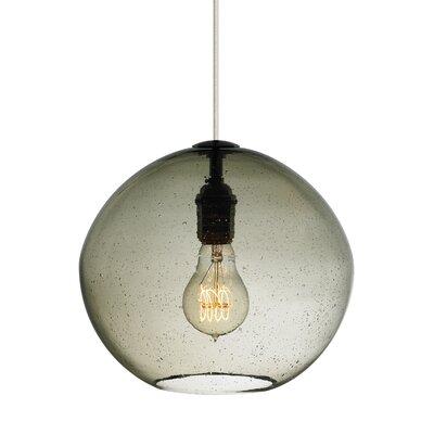 1-Light Globe Pendant Finish: Bronze, Shade Color: Smoke