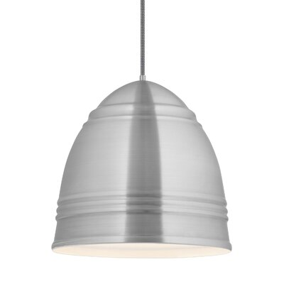 Else 3-Light Geometric Pendant Shade Color: Brushed Aluminum/White Interior