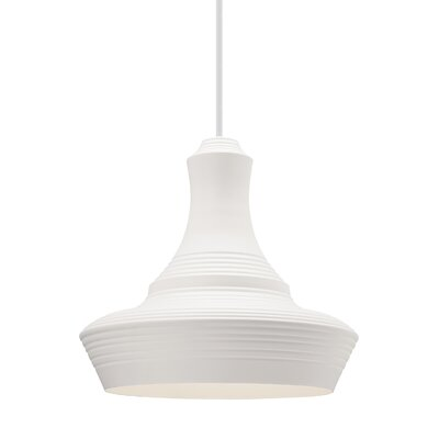 Fennell 1-Light Geometric Pendant Shade Color: White, Size: 20 H x 22 W x 22 D