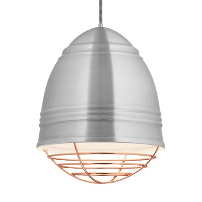 Else 3-Light Geometric Pendant Finish: Copper, Shade Color: Brushed Aluminum/White Interior