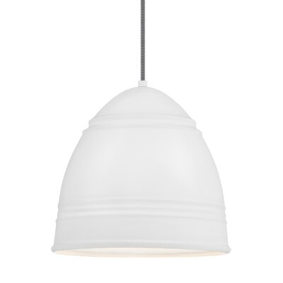 Else 1-Light Mini Pendant Shade Color: Rubberized White/White Interior