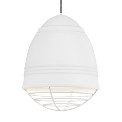 Else 3-Light Geometric Pendant Finish: White, Shade Color: Rubberized White/White Interior