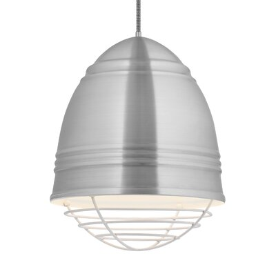 Else 3-Light Geometric Pendant Finish: White, Shade Color: Brushed Aluminum/White Interior