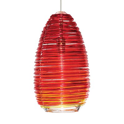 Dutcher Vortex 1-Light Mini Pendant Shade Color: Red