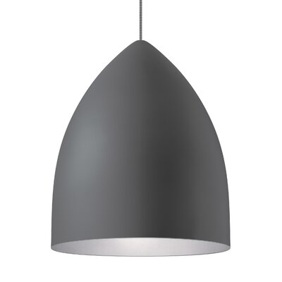 1-Light Inverted Pendant Shade Color: Rubberized Gray/Platinum