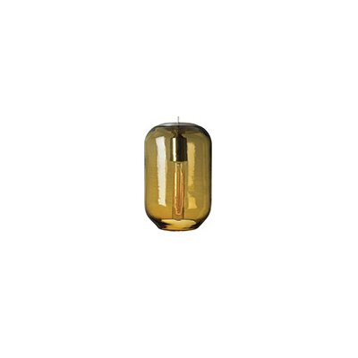 Classic 1-Light Mini Pendant Finish: Bronze, Shade Color: Amber