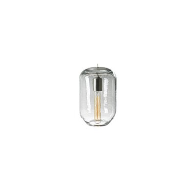 Classic 1-Light Mini Pendant Finish: Satin Nickel, Shade Color: Clear