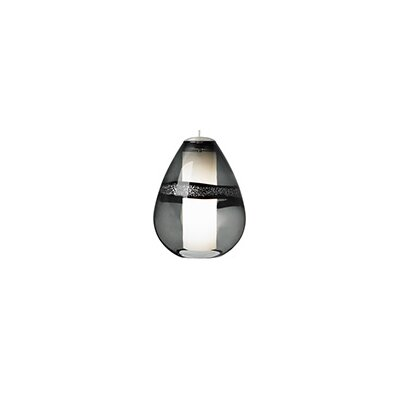 Herron 1-Light Mini Pendant Color: Satin Nickel, Shade Color: Gray