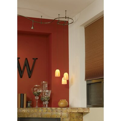 Barnet Onyx Dome 1-Light Mini Pendant Base Color: Satin Nickel