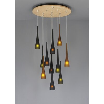 Small 1-Light Mini Pendant Finish: Bronze, Shade Color: Amber