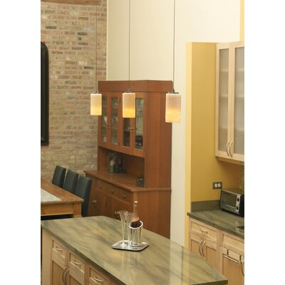 Barnesville Onyx Cylinder 1-Light Mini Pendant Base Color: Satin Nickel