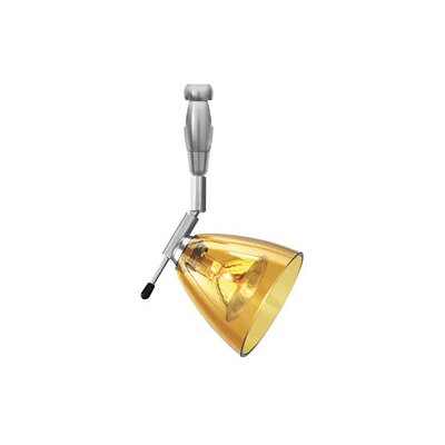 Estep 1-Light Freejack Track Mini Pendant Size: 12, Finish / Finish: Satin Nickel / Amber, Mount Type: Monorail