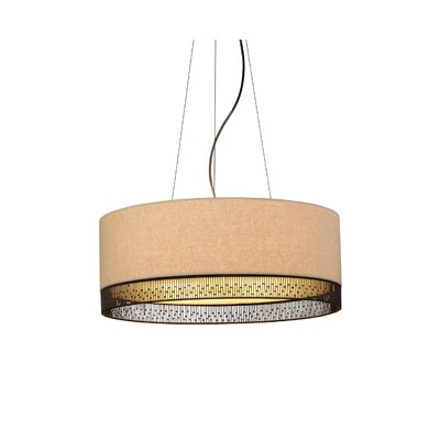 4-Light Drum Pendant Bulb Type: Incandescent
