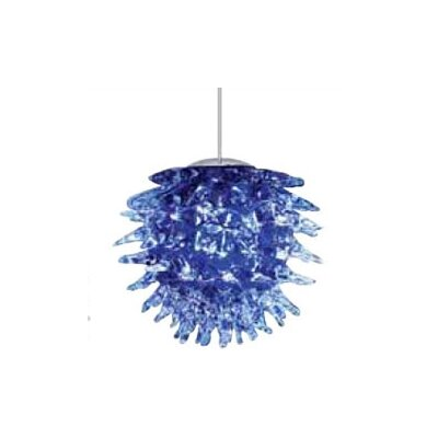 Oswalt 1-Light Mini Pendant Shade Color: Blue