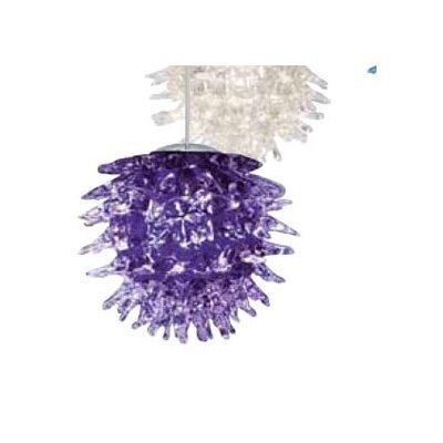 Oswalt 1-Light Mini Pendant Shade Color: Purple