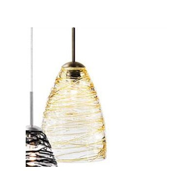 Flow 1-Light Mini Pendant Color: Amber, Finish: Satin Nickel, Mounting Type: Monorail Track Head