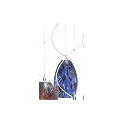 Monty Mouth Blown Murano 1-Light Pendant Color: Blue, Finish: Polished Chrome