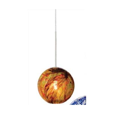 Paperweight 1 Light Mini Pendant Color: Amber, Finish: Satin Nickel, Mounting: 2-Circuit Rail Track Pendant