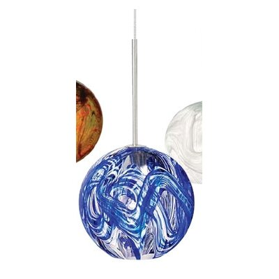 Mini Paperweight 1-Light Mini Pendant Finish: Satin Nickel, Shade Color: Blue, Mounting Type: Canopy/Transformer Pendant