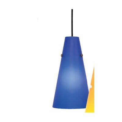 Kona II 1-Light Pendant Shade Color: Opal, Finish: Black