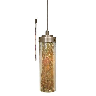 Max 1-Light Mini Pendant Finish: Satin Nickel, Shade Color: Tortoise, Mounting Type: Fusion Jack Mini Pendant
