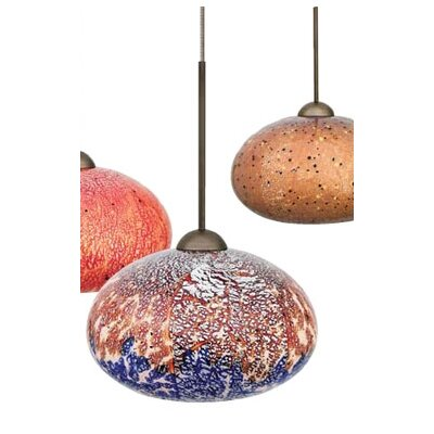 Broadlands 1-Light Mini Pendant Color: Blue, Finish: Satin Nickel, Mounting Type: Track Head Only