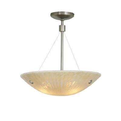 Ambra 1-Light Bowl Pendant Finish: Satin Nickel, Bulb Type: Fluorescent