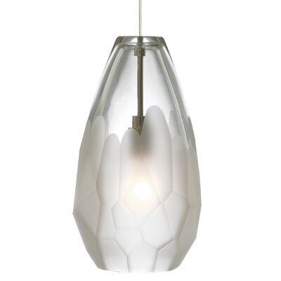 Briolette 1-Light Pendant Shade Color: Brown, Mounting Type: Monorail, Finish: Satin Nickel