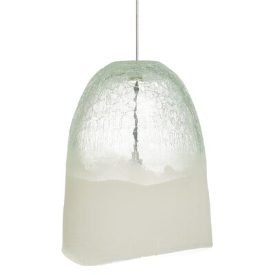 1-Light Pendant Shade Color: Clear, Mounting Type: Monorail, Finish: Satin Nickel