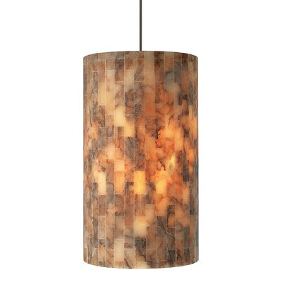 Coliseum 1-Light Mini Pendant Finish: Bronze, Shade Color: Opal, Mounting Type: Fusion Jack Mini Pendant