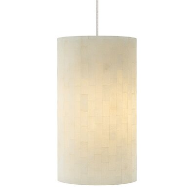 Coliseum 1-Light Mini Pendant Shade Color: Opal, Finish: Satin Nickel, Mounting Type: LED - Fusion Jack Mini Pendant