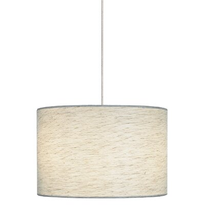 Fiona 2-Light Track Pendant Shade Color: Linen, Finish: Satin Nickel, Mounting Type: Monorail Track Pendant