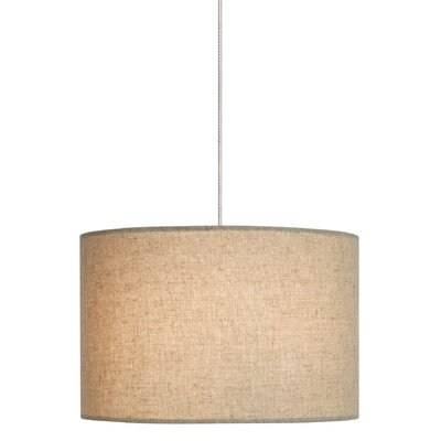 Fiona 2-Light Track Pendant Shade Color: Pebble, Finish: Satin Nickel, Mounting Type: Monorail Track Pendant