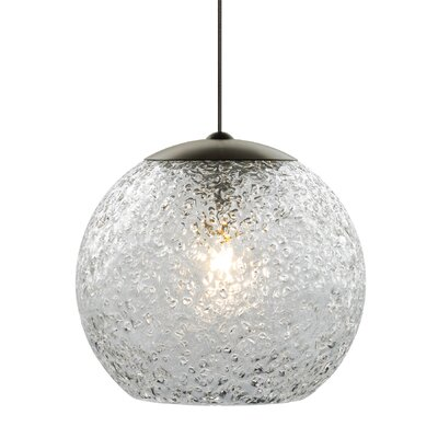 Younkin 1-Light Mini Pendant Shade Color: Clear, Mounting Type: Fusion Jack