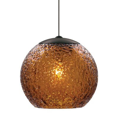 Younkin 1-Light Mini Pendant Shade Color: Dark Amber, Mounting Type: Fusion Jack