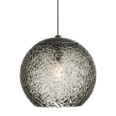 Rock 1-Light Mini Pendant Shade Color: Smoke, Mounting Type: Fusion Jack