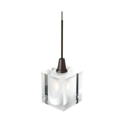 Rocks 1-Light Mini Pendant Finish: Bronze, Mounting Type: Pendant with Canopy/Transformer