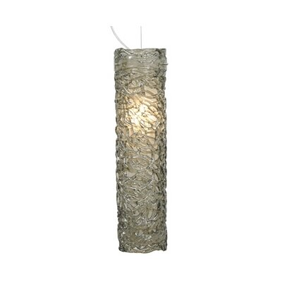 Isis 1-Light Mini Pendant Finish: Bronze, Shade Color: Smoke, Bulb type: Fluorescent