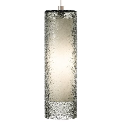 Sonali 1-Light Pendant Shade Color: Smoke, Finish: Satin Nickel, Bulb Type: Incandescent