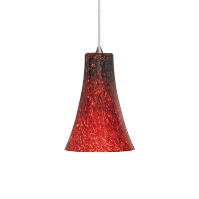 1-Light Freejack Mini Pendant Bulb Type: 5W Xenon, Mount Type: Monorail, Finish/Color: Bronze/Red