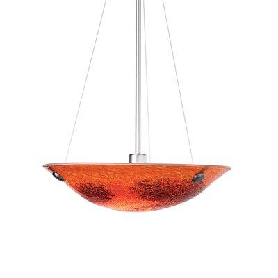 Veneto 1-Light Bowl Pendant Shade Color: Red