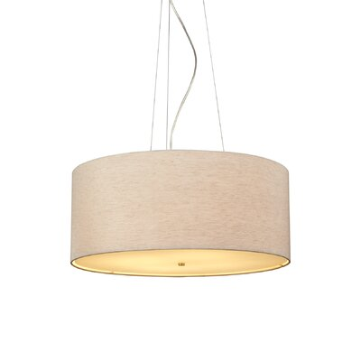 Fiona 4-Light Drum Pendant Finish: Bronze, Color: Pebble, Bulb Type: Fluorescent