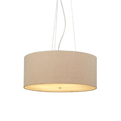 Fiona 4-Light Drum Pendant Finish: Satin Nickel, Color: Pebble, Bulb Type: Fluorescent