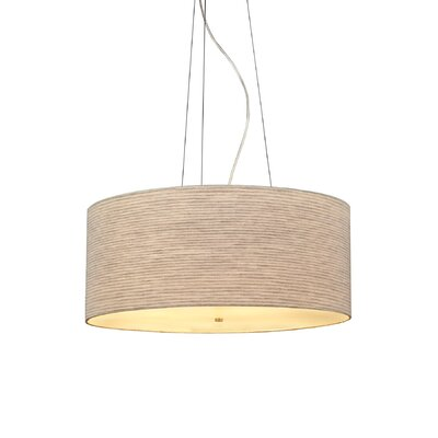 Fiona 4-Light Drum Pendant Finish: Satin Nickel, Color: Pewter, Bulb Type: Fluorescent