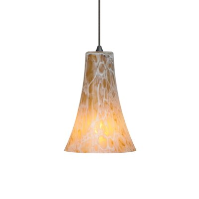 Chambers 1-Light Mini Pendant Finish/Finish: Bronze/Amber, Bulb Type: 5W Xenon, Mount Type: Monorail