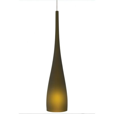 Cypree 1-Light Mini Pendant Finish: Satin Nickel, Shade Color: Green, Mounting Type: Fusion Jack Mini Pendant