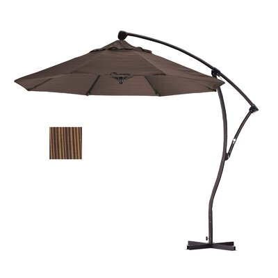 9' Deluxe Crank Lift Umbrella Fabric: Terrace sequoia BA908-FD10